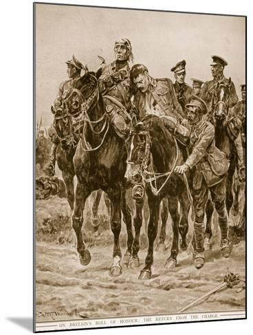 On Britain's Roll of Honour: The Return from the Charge-Richard Caton Woodville-Mounted Giclee Print