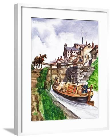 The Wonderful Story of Britain: Why Canals Are Made--Framed Art Print