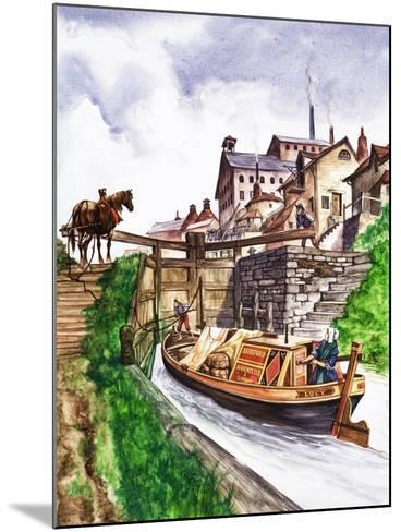The Wonderful Story of Britain: Why Canals Are Made--Mounted Giclee Print