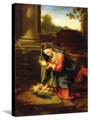Our Lady Worshipping the Child, c.1518-20-Correggio-Stretched Canvas Print