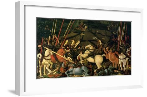 The Battle of San Romano in 1432, c.1456-Paolo Uccello-Framed Art Print