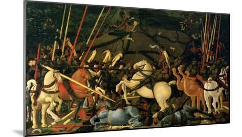 The Battle of San Romano in 1432, c.1456-Paolo Uccello-Mounted Giclee Print