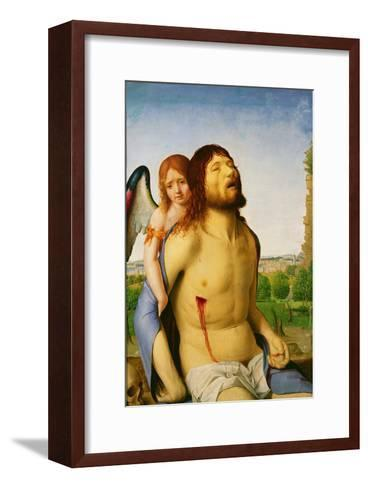 The Dead Christ Supported by an Angel, c.1475/78-Antonello da Messina-Framed Art Print