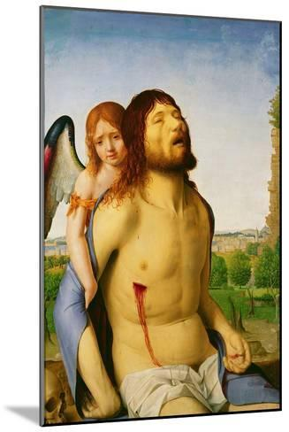 The Dead Christ Supported by an Angel, c.1475/78-Antonello da Messina-Mounted Giclee Print