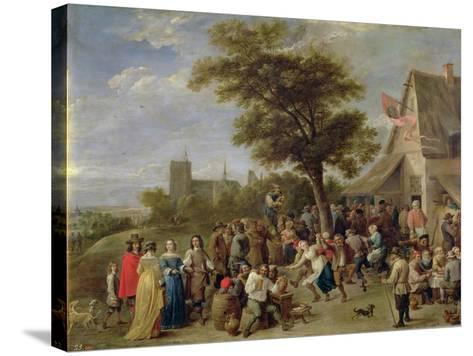 Peasants Merry-Making, c.1650-David Teniers the Younger-Stretched Canvas Print
