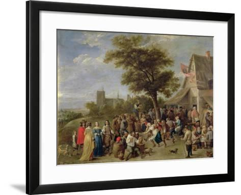 Peasants Merry-Making, c.1650-David Teniers the Younger-Framed Art Print