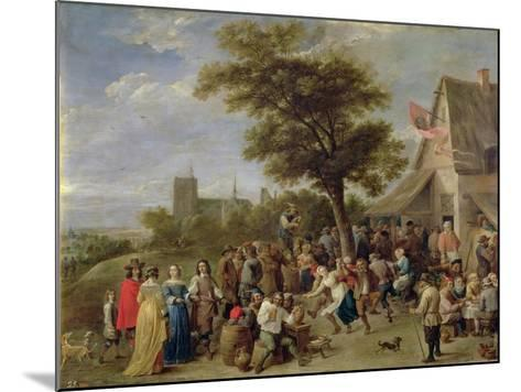 Peasants Merry-Making, c.1650-David Teniers the Younger-Mounted Giclee Print