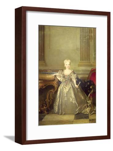 Infanta Maria Anna Victoria de Bourbon, 1724-Nicolas de Largilliere-Framed Art Print