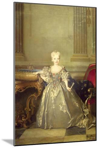 Infanta Maria Anna Victoria de Bourbon, 1724-Nicolas de Largilliere-Mounted Giclee Print