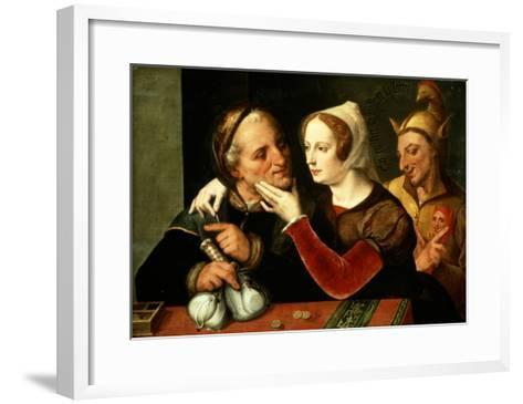 The Older One Becomes, the Madder One Becomes, So Says the Old Man- Master Of The Prodigal Son-Framed Art Print