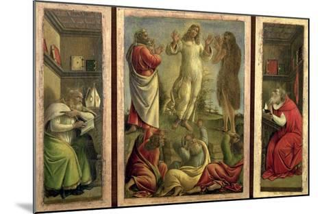 Triptych: Transfiguration, Jesus Appearing to His Disciples with Ss. Jerome and Augustine-Sandro Botticelli-Mounted Giclee Print