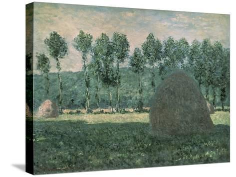 Haystacks Near Giverny, c.1884-89-Claude Monet-Stretched Canvas Print