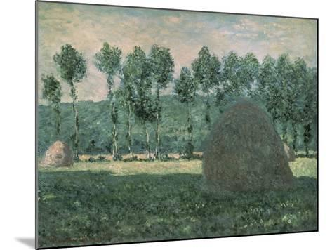 Haystacks Near Giverny, c.1884-89-Claude Monet-Mounted Giclee Print