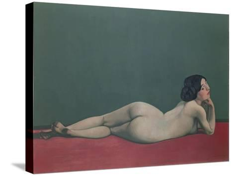 Nude Stretched Out on a Piece of Cloth, 1909-F?lix Vallotton-Stretched Canvas Print