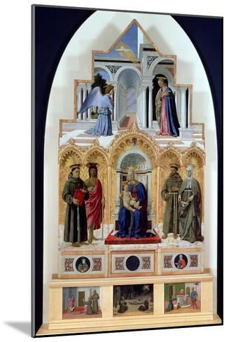 Altarpiece, Madonna and Child with Saints, Miracles of St. Anthony, St. Francis and St. Elizabeth-Piero della Francesca-Mounted Giclee Print