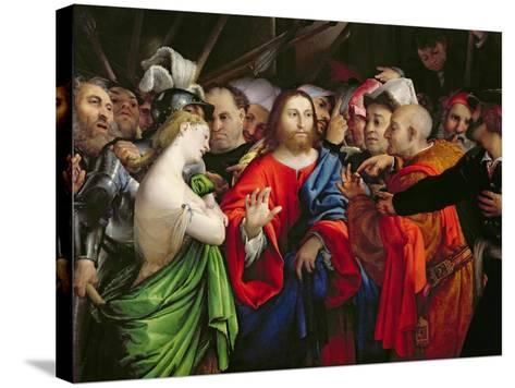 Christ and the Adulteress, c.1527-29-Lorenzo Lotto-Stretched Canvas Print
