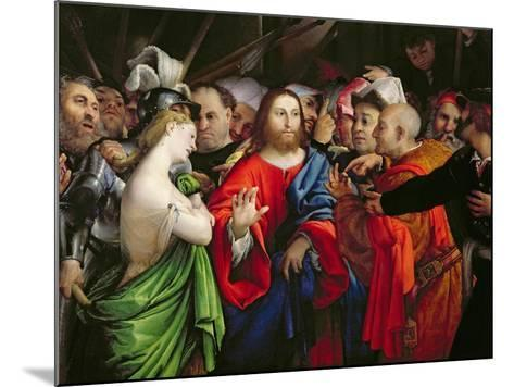 Christ and the Adulteress, c.1527-29-Lorenzo Lotto-Mounted Giclee Print