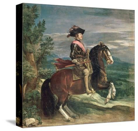 Equestrian Portrait of Philip IV-Diego Velazquez-Stretched Canvas Print