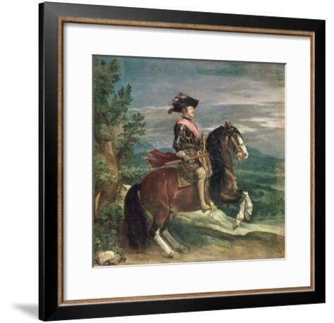 Equestrian Portrait of Philip IV-Diego Velazquez-Framed Art Print