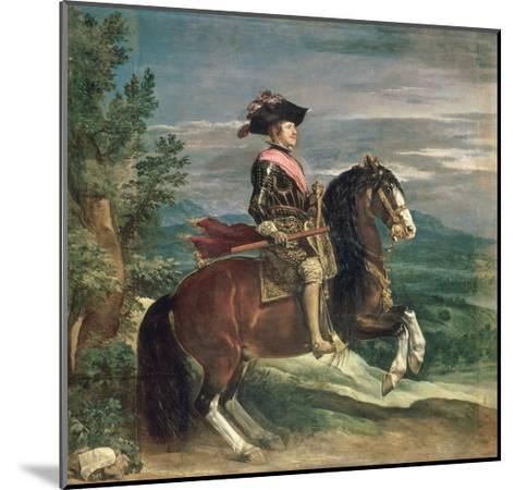 Equestrian Portrait of Philip IV-Diego Velazquez-Mounted Giclee Print
