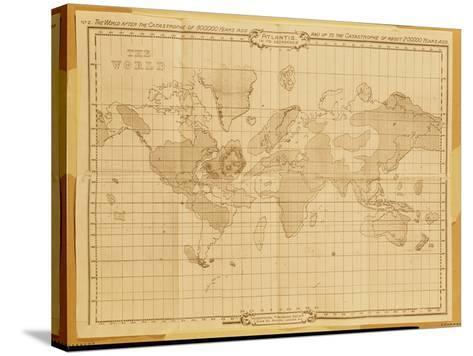 Map of the World, Atlantis in It's Decadence, Published by the Theosophical Publishing Company--Stretched Canvas Print