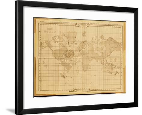 Map of the World, Atlantis in It's Decadence, Published by the Theosophical Publishing Company--Framed Art Print