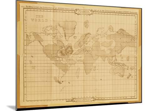 Map of the World, Atlantis in It's Decadence, Published by the Theosophical Publishing Company--Mounted Giclee Print