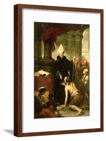 St. Thomas of Villanueva Distributing Alms, 1678-Bartolome Esteban Murillo-Framed Art Print