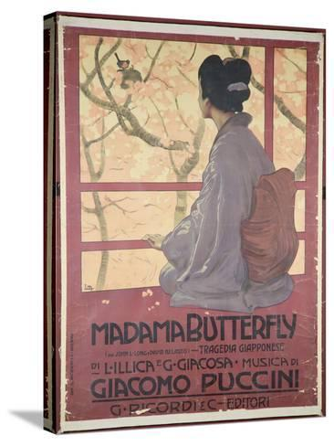 Frontispiece of the Score Sheet For Madame Butterfly by Giacomo Puccini--Stretched Canvas Print