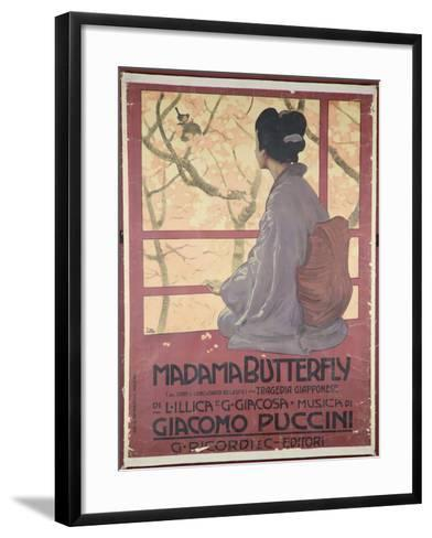 Frontispiece of the Score Sheet For Madame Butterfly by Giacomo Puccini--Framed Art Print