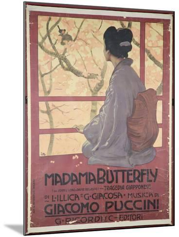 Frontispiece of the Score Sheet For Madame Butterfly by Giacomo Puccini--Mounted Giclee Print