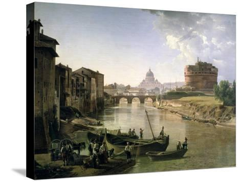 New Rome with the Castel Sant'Angelo, 1825-Silvestr Fedosievich Shchedrin-Stretched Canvas Print