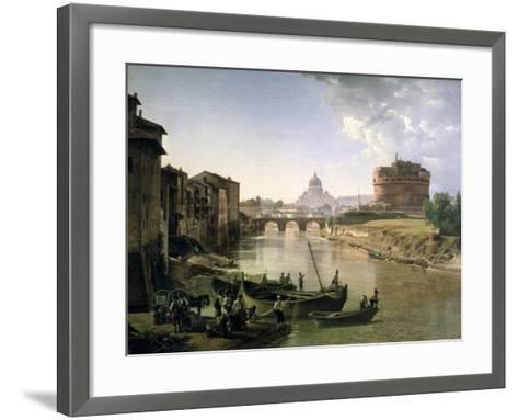 New Rome with the Castel Sant'Angelo, 1825-Silvestr Fedosievich Shchedrin-Framed Art Print