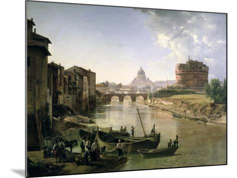 New Rome with the Castel Sant'Angelo, 1825-Silvestr Fedosievich Shchedrin-Mounted Giclee Print