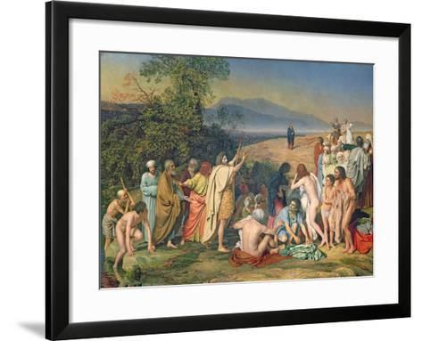 The Appearance of Christ to the People-Aleksandr Andreevich Ivanov-Framed Art Print