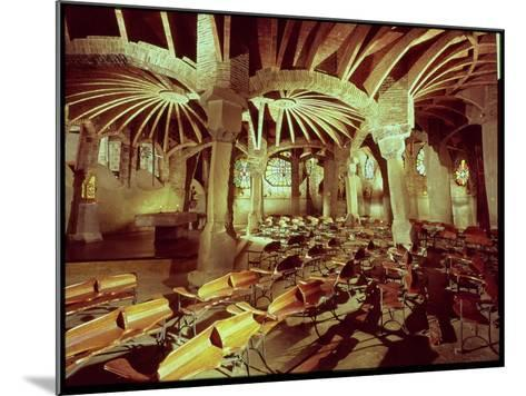 Guell Crypt with Its Tilted Column, Built by Antonio Gaudi-Antoni Gaud?-Mounted Giclee Print