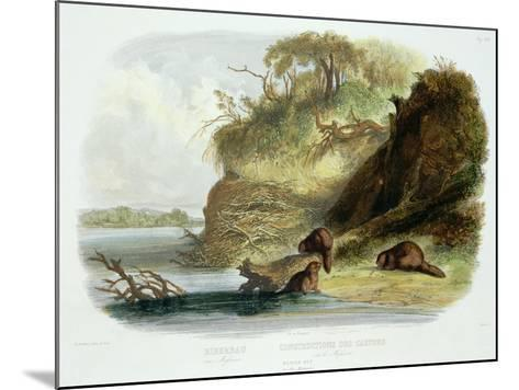 Beaver Hut on the Missouri, Plate 17, Travels in the Interior of North America-Karl Bodmer-Mounted Giclee Print