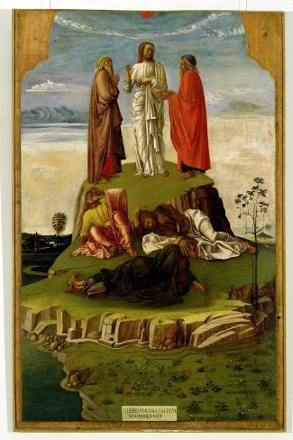 Transfiguration of Christ on Mount Tabor, 1455-60-Giovanni Bellini-Stretched Canvas Print