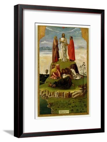 Transfiguration of Christ on Mount Tabor, 1455-60-Giovanni Bellini-Framed Art Print