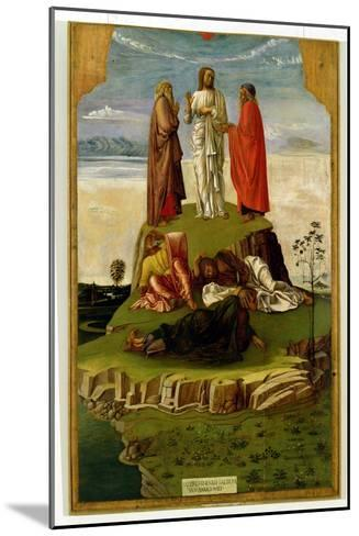 Transfiguration of Christ on Mount Tabor, 1455-60-Giovanni Bellini-Mounted Giclee Print