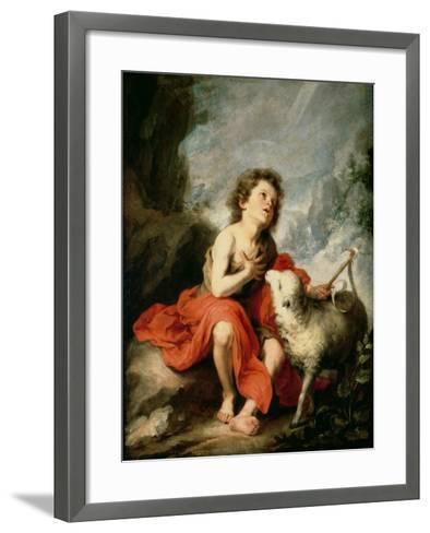 St. John the Baptist as a Child, c.1665-Bartolome Esteban Murillo-Framed Art Print