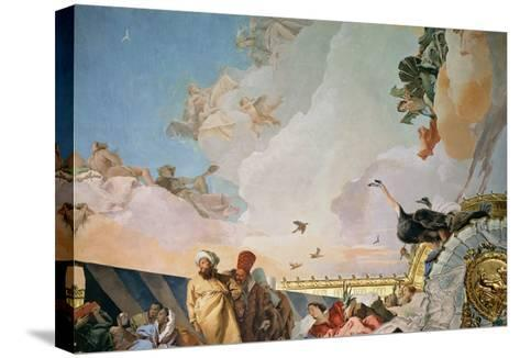 The Glory of Spain III, from the Ceiling of the Throne Room, 1764-Giovanni Battista Tiepolo-Stretched Canvas Print