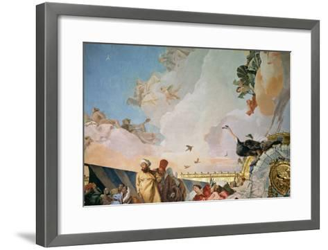 The Glory of Spain III, from the Ceiling of the Throne Room, 1764-Giovanni Battista Tiepolo-Framed Art Print
