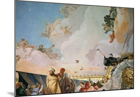 The Glory of Spain III, from the Ceiling of the Throne Room, 1764-Giovanni Battista Tiepolo-Mounted Giclee Print