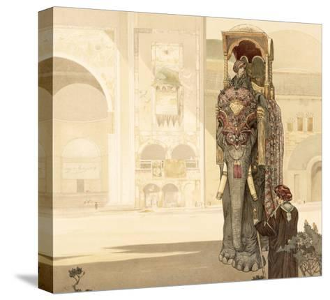 Ceremonial Elephant, from The Jungle Book by Rudyard Kipling, 1903-Charles Maurice Detmold-Stretched Canvas Print