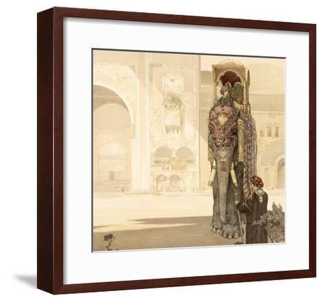 Ceremonial Elephant, from The Jungle Book by Rudyard Kipling, 1903-Charles Maurice Detmold-Framed Art Print