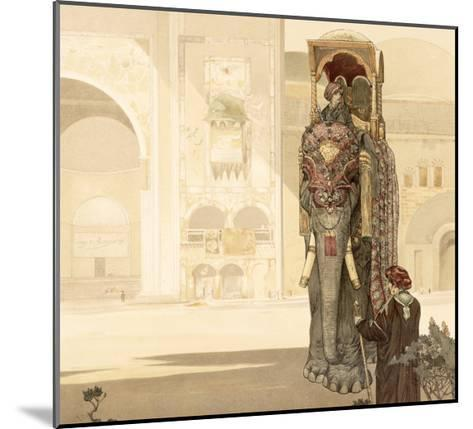 Ceremonial Elephant, from The Jungle Book by Rudyard Kipling, 1903-Charles Maurice Detmold-Mounted Giclee Print