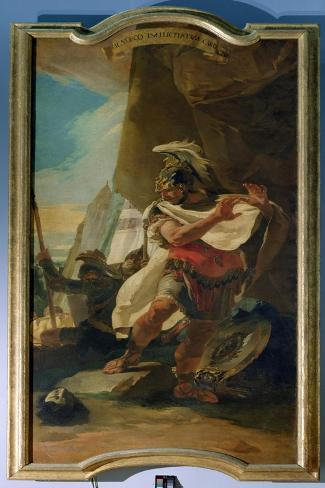 Hannibal with the Head of His Brother Hasdrubal, 1728-30-Giovanni Battista Tiepolo-Stretched Canvas Print