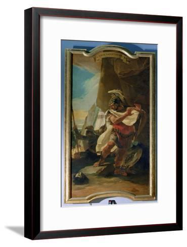 Hannibal with the Head of His Brother Hasdrubal, 1728-30-Giovanni Battista Tiepolo-Framed Art Print