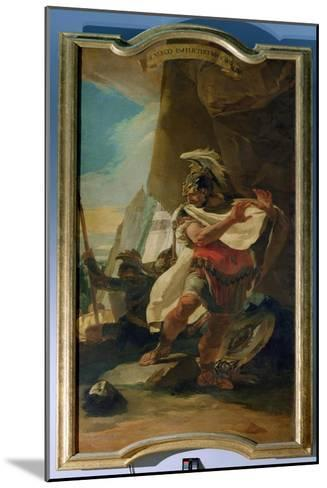 Hannibal with the Head of His Brother Hasdrubal, 1728-30-Giovanni Battista Tiepolo-Mounted Giclee Print